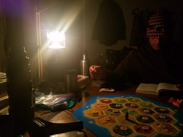 Evenings on Manitou: sipping tea, reading Blood Meridian (which inspired some quite stellar dreams), spirited game nights...entire pages of my journal became columns of rummy scores and notes about the ever-growing mouse tally (ultimately, 158!)
