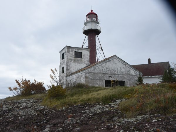 Manitou Light & Foghorn Building. For me, part of the intrigue of Manitou was that we'd be living in a functioning lighthouse. It was built in 1860, and by appearances has been gradually forgotten since. It had plenty of character--and built plenty of character, too.
